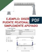 Ejemplo de Diseño de Puente Peatonal