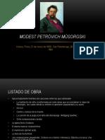 Modest Petróvich Músorgski