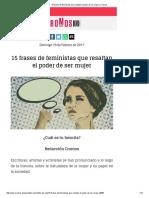 15 Frases de Feministas Que Resaltan El Poder de Ser Mujer _ Cromos
