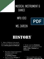 MPU 1313 - Malaysian Musical Instrument and Dance