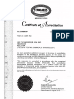 ALS Malaysia SAMM Accreditation Certificate