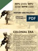 MPU 1153 - CH2 History and Politics