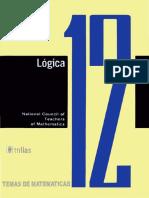 National Council of Teachers of Mathematics traducción de Federico Velasco Cobe-Temas de matemáticas Cuaderno 12_ Lógica-Trillas (1972).pdf