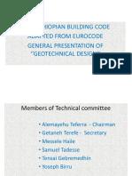 Presentation of New Ethiopian Building Code -Eurocode