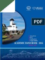 Academic Handbook - EPGP-09 Batch -2016