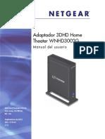 Manual Fabricante Adaptador Inalambrico Altas Prestaciones WNHD3002G Netgear