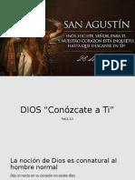 Expo san agustin y su concepcion de Dios