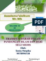 transfusi darah dalam pandangan islam dan dari segi medis