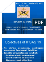 IPSAS 19 - Provisions and Contingencies
