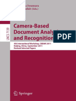 Camera based recogniton document