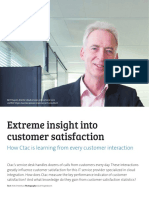 Extreme Insight Into Customer Satisfaction