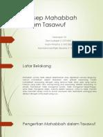 PPT Konsep Mahabbah Dalam Tasawuf