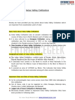 Indus Valley Civilization PDF Study Material by ENTRANCEGEEK
