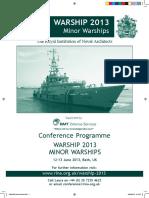 Warship 2013 PRINT Brochure