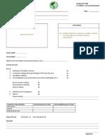 Crack Inspection Form
