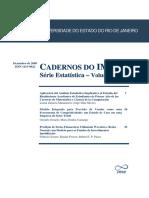 Cadernos Do IME - Serie Estatistica Vol 25