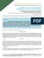 Iaetsd-jaras-plastic to Fuel Conversion