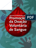 Manual Orientacoes Promocao Doacao Voluntaria Sangue