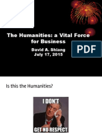 Importance of the Humanities