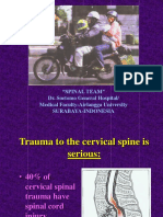 Algorithm of c Spine Injuries (Langkawi)