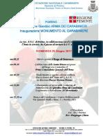 inaugurazione monumento carabiniere anc poirino