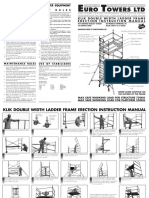 Euro Towers Ltd Klick Double Width Instruction Manual