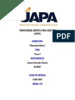 Tarea 2 Matematica Basica - Joseuris Gonzalez