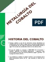 Metalurgía Del Cobalto