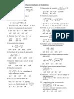 Trabajo Encargado de Matematica ECUACIONES