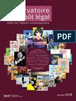 Observatoire du dépôt légal 2016