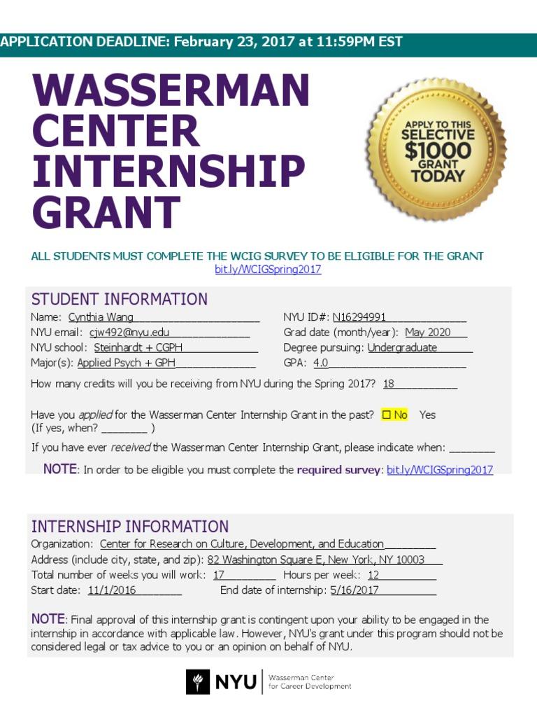 WCIG_Student_Application_Spring_2017 doc   Internship