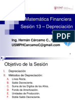 Matemática Financiera Sesión 13