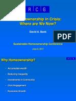2017 06 09 Sustainable Homeownership Conference David Bank Presentation Slides 06-15-2017