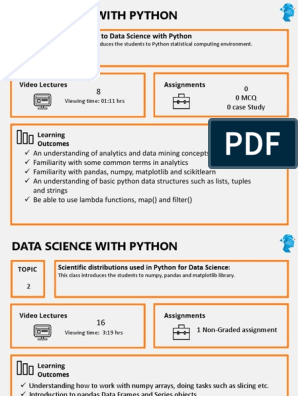 Data Science With Python   Machine Learning   Statistical