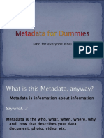 Metadata for Dummies