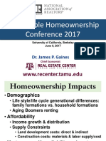 2017 06 09 Sustainable Homeownership Conference James Gaines Presentation Slides 06-16-2017