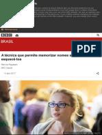 A técnica que permite memorizar nomes sem jamais esquecê-los - BBC Brasil.pdf