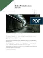 Imágenes de Los 7 Túneles Más Largos Del Mundo