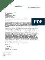 Letter from DOT on Classon Avenue Bike Lane