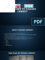 Welcome to Pahang Cement