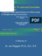AASHTO T-4 Proposed Guide Specifications for Wind Loads on Bridges During Construction - 2016 Wagdy Wassef