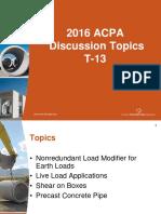 AASHTO T-13 ACPA 2016 Items for Future Consideration - Josh Beakley