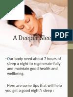 A Deeper Sleep September 15,2015