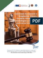 CEDO CA Parte Integranta a Metodologiei Judiciare Motivarea Hotararilor