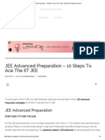 JEE Advanced Preparation - 10 Steps to Ace the IIT JEE - Admission & Entranc