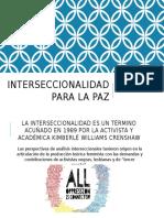 Interseccionalidad Para La Paz