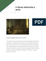 Marguerite Duras - Entrevista a Francis Bacon
