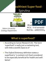 Worlds Healthiest Super Food - Spirulina