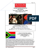 Globally Speaking Zulu Syllabus Spring 2015