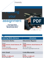 Aza2460 Lab Report -Planning Your Assignment 2015